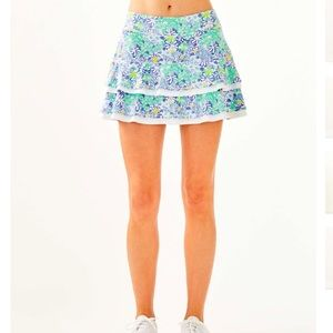 NWT Lilly Pulitzer Luxletic Zela Athletic Skort L